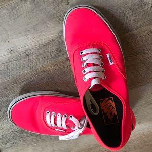 Vans neon flame sneaker. LOVE this color! Sz 8